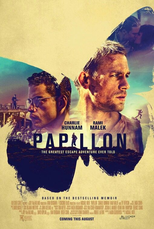 Papillon Movie Poster Charlie Being A Steve And Rami Being A Dustin