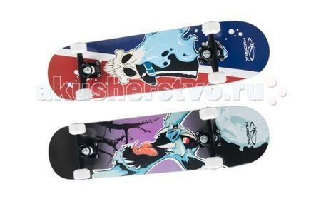 Hudora Скейтборд Skill ABEC 7  — 4900р. ------------------------  Hudora Скейтборд Skill ABEC 7 для занятия скейтбордингом или просто катания от 7 лет.   Особенности: Доска изготовлена из высококачественного 7 слойного канадского клёна Лента анти-скольжения (гриптейп), резиновый коврик Двухсторонний дизайн Колёса диаметром 36 мм х 54 мм Подшипники - abec 7, хромированные, грязезащитная крышка с обеих сторон Размеры: 77,5 см х 19,7 см Максимальный вес пользователя 100 кг