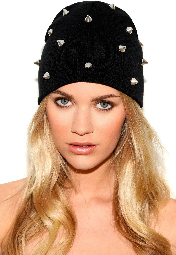 Vilia Spiked Beanie Hat. Only $8.24 at Misguided! So hot I'm buying one!