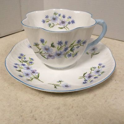 Shelley--Fine bone China Cup and Saucer Set--Blue Rock--13591