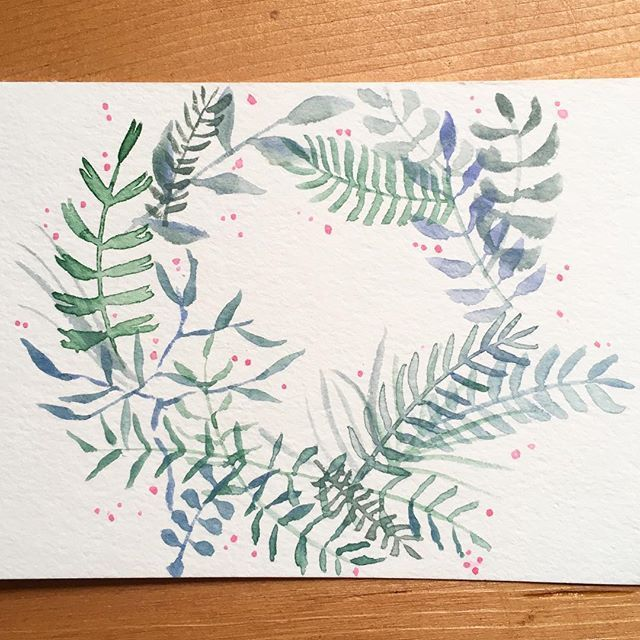 #watercolor #aquarelle #foliage #feuillage #floralwreath #illustration #flowerillustration #flowerpainting #watercolorflowers