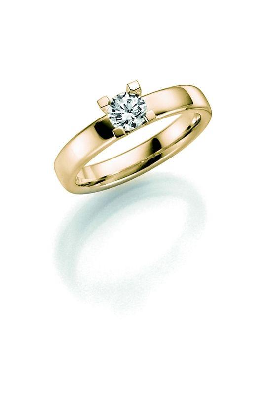 14K gouden trouwring diamant Narcis H204