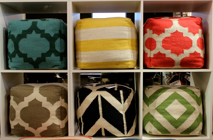 Surya - Showplace 4100 Style: Pouf 158 #hpmkt #stylespotter The hippest footrest on the planet! I'll take one of each please!