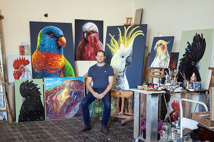 Studio visit with Australian artist Charles Smith for The Corner Store Gallery www.cornerstoregallery.com