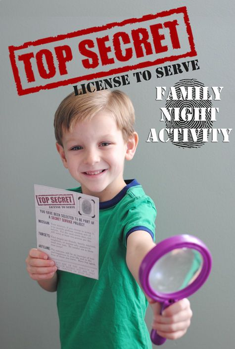 Family Night Activity - Secret Service - a fun way to involve the whole family is giving service