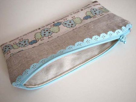 how to sew a pouch using this lace zipper