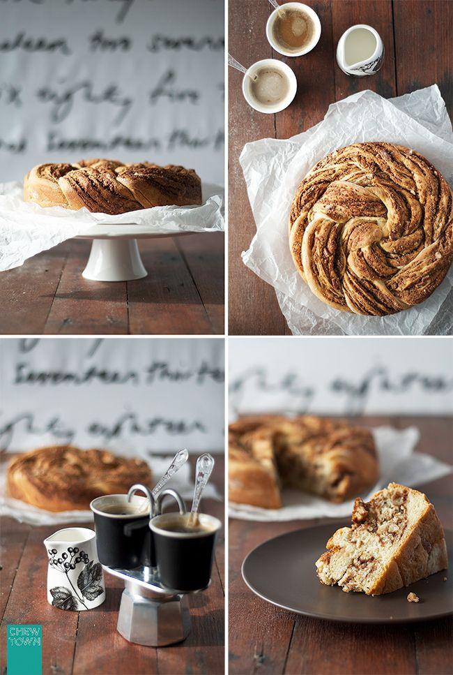 Braided Cinnamon and Pecan Bread Recipe | Chew Town Food Blog