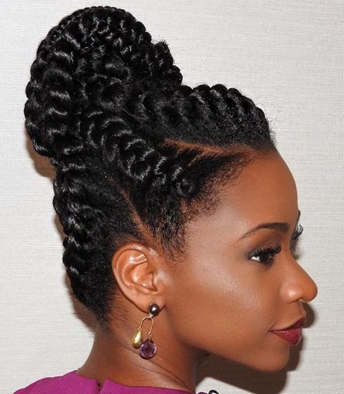 goddess braids updo with extensions