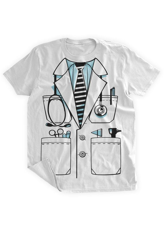 Funny Doctor Costume Tshirt Funny Doctor Uniform Cop by BumpCovers, $14.99 Doctor Stethoscope Doctors Coat Medical Jacket