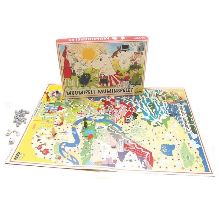 This boardgame was originally published in the 1950s. Enjoy some quality time with the Moomin family with this exciting game! Game instructions in Finnish and Swedish.Instructions and surprise cards in EnglishTämä lautapeli on julkaistu ensimmäisen kerran jo 1950-luvulla. Nauti Muumi-perheen seurasta tämän jännän lautapelin kautta! Peliohjeet suomeksi, ruotsiksi ja englanniksi.Detta spel publicerades första gången redan på 1950-talet. Njut av Mumin-familjens sällskap med detta spännande…