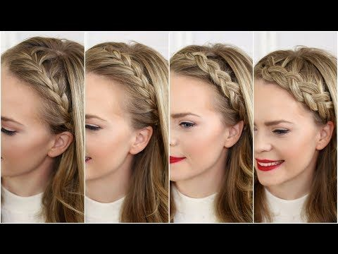 Beautiful Four Headband Braids styles!!! She makes this looks so easy!!