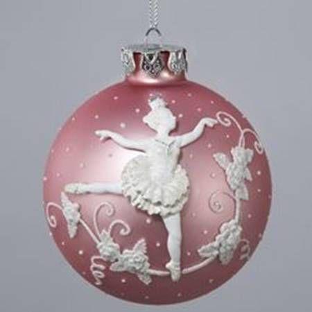 Kurt Adler Kurt Adler Christmas Ornament Ballerina Ball Ornament - No Box
