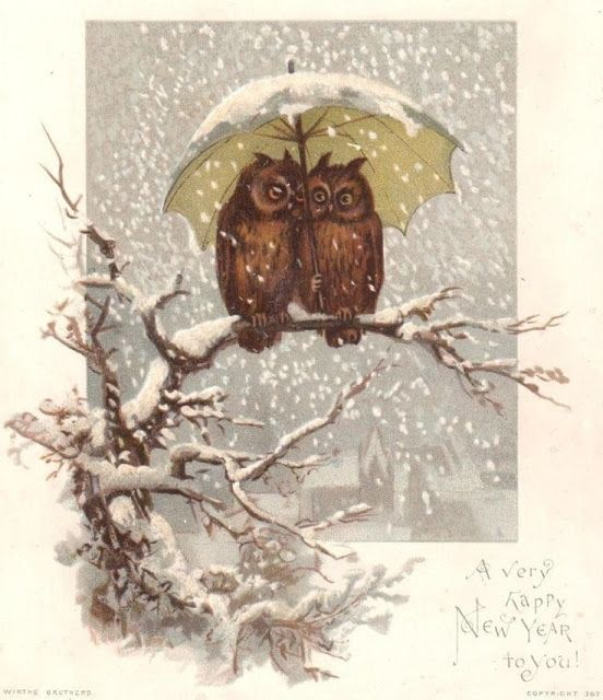 Vintage New Year postcard by Wirths Brothers & Owen
