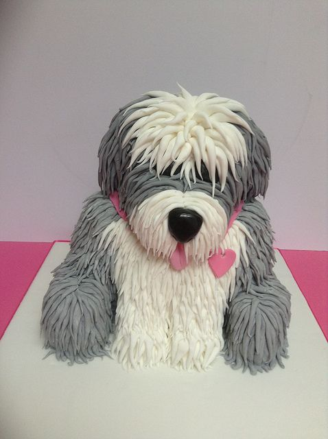 old english sheepdog dulux dog cake by cakes from the sweetest thing (Susan), via Flickr
