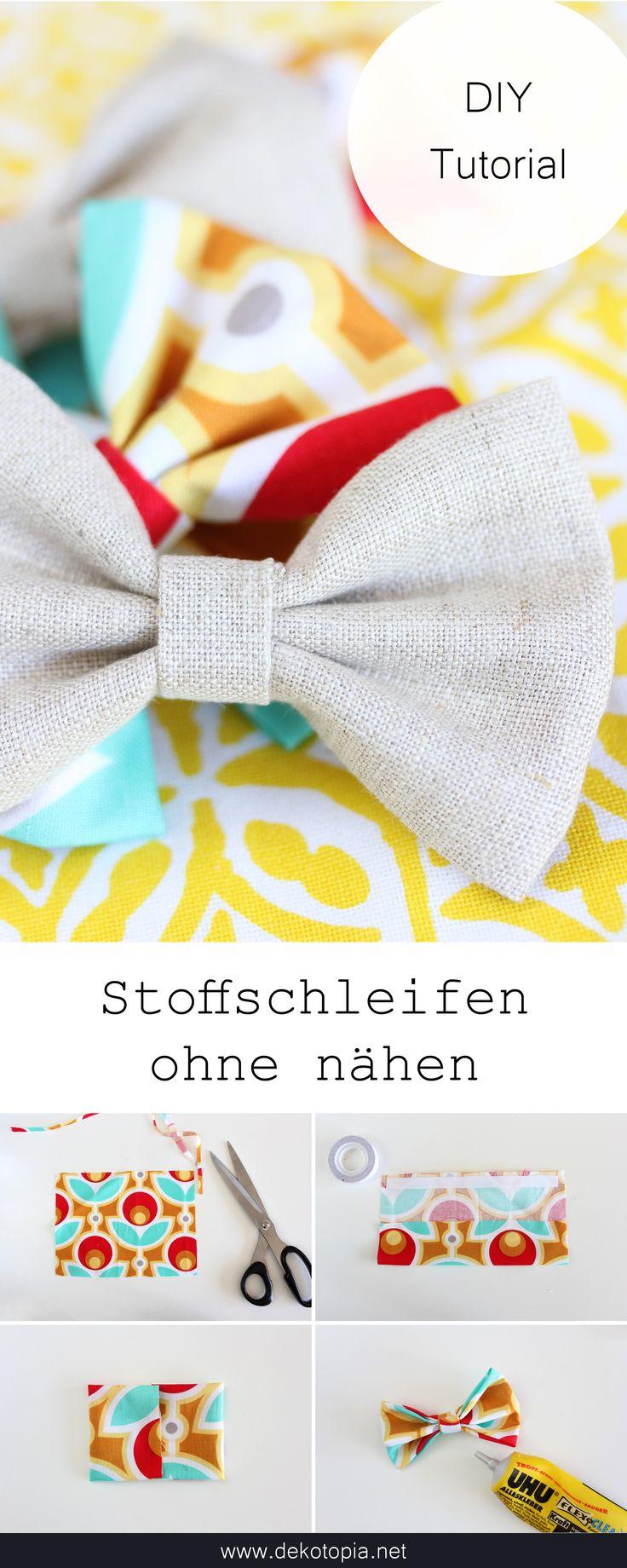 """DIY Challenge: """"No Sew Projekte"""" – Stoffschleifen ohne nähen"""