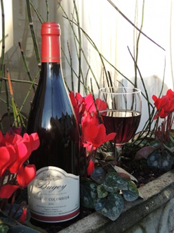 Duport-Dumas Bugey Pinot Noir aged in barrels with rubis robe. On the palate, this wine is firm but warm with flavour of macereted cooked fruits. Best with white meat.