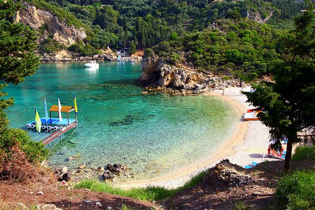Paleokastritsa beach, Corfu island by Marite2007, via Flickr