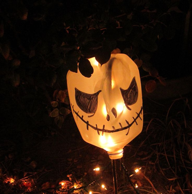 jack skellington milk jug lights