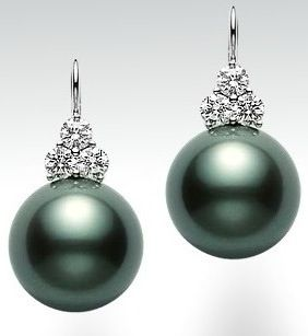 An S Mikimoto Pearls Are The Most Expensive And Beautiful Gorgeous Depth Of Er Perfection Black Pearl Earringsblack