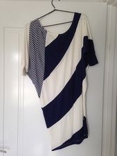 Navy and white beach dress