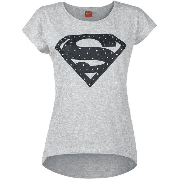 Superman T-Shirt ($19) ❤ liked on Polyvore featuring tops, t-shirts, superman t shirt, logo tee, superman logo t shirt, superman tee and logo t shirts