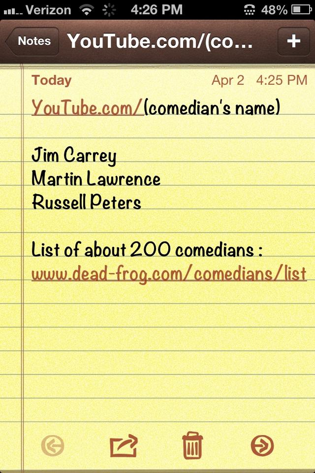 More comedy...