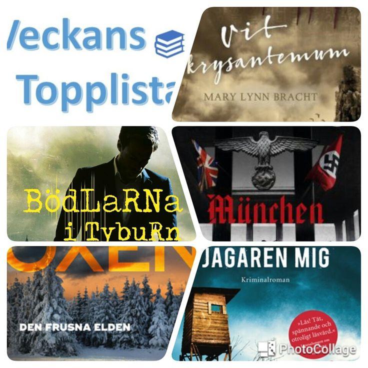 Veckans topplista: Böcker jag ser fram emot i vår