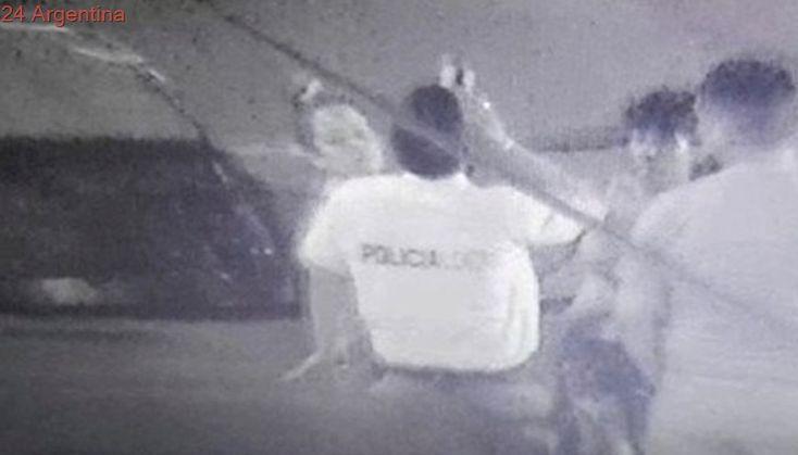 Filman a un policía de Tres de Febrero tomando cerveza en horario de servicio