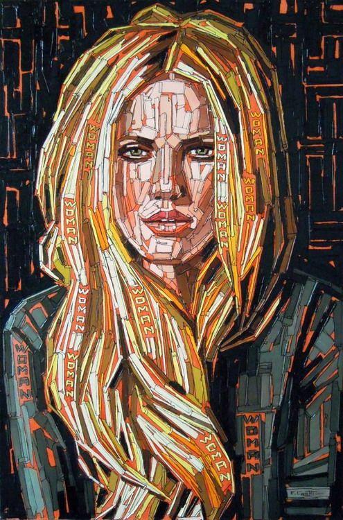 compendio-rostros-mujeres-cuadros-modernos_07.jpg (495×750) | h ...