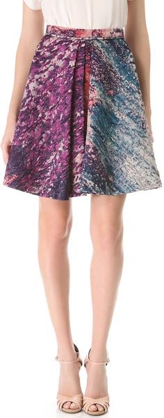 Box Pleat Skirt - Lyst