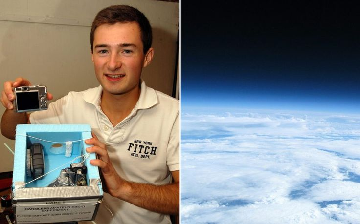 A teenager has floated a £30 camera he bought on eBay into space to capture   amazing images of the Earth.