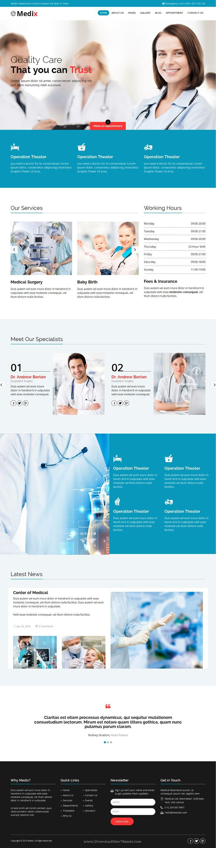 Medix is new Bootstrap HTML #template for Health and #Medical organization #websites. Download Now!