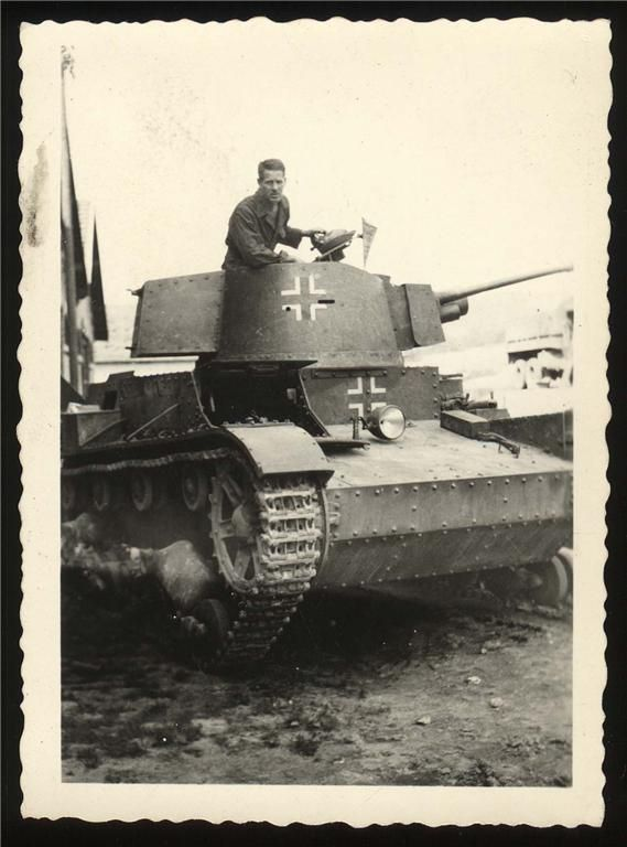 Ex-polish 7TP in Normandy