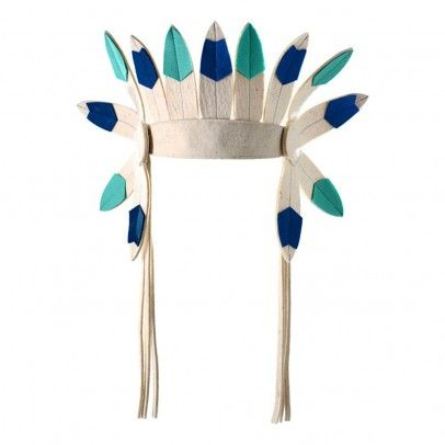 Short Felt Indian Headdress Turquoise  Frida's Tierchen