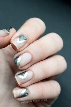 Geometric/negative space nails