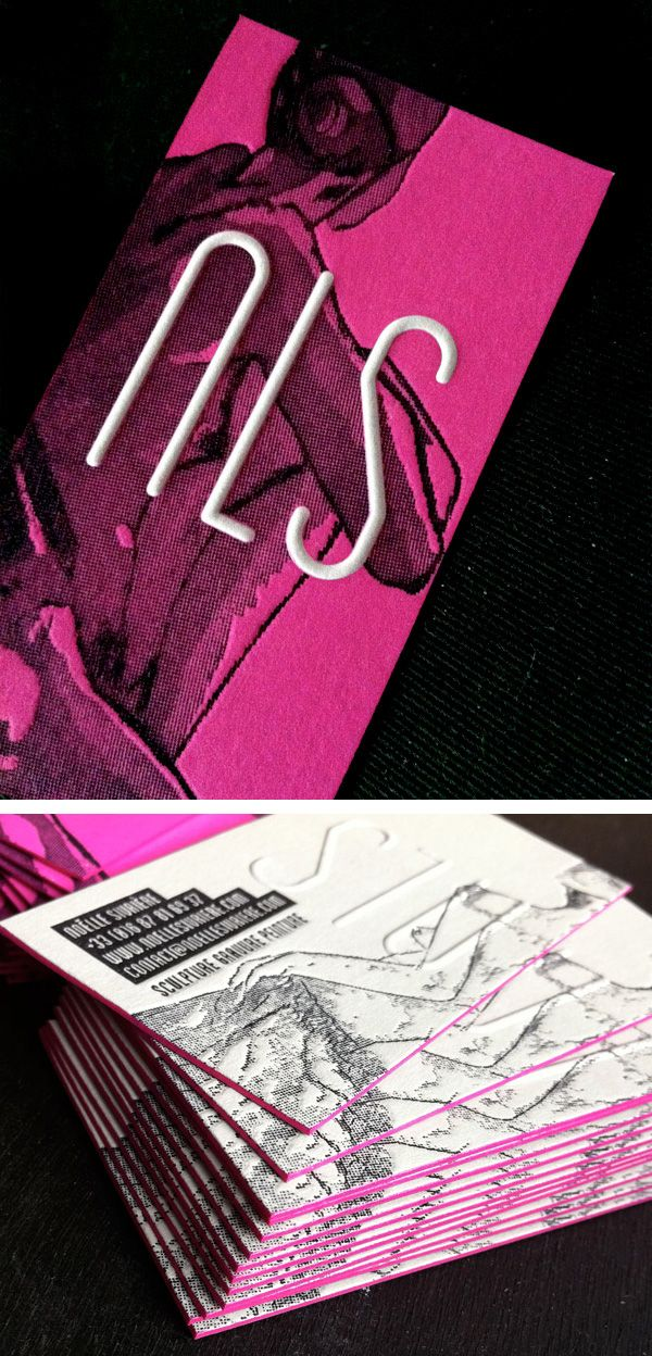 55 best business card designs images on pinterest business card 12 of the most attractive embossed business cards reheart Image collections