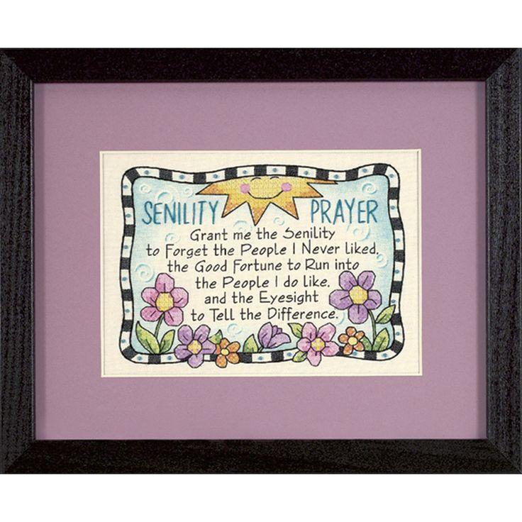 """Dimensions Senility Prayer Mini Stamped Cross Stitch Kit-7""""X5"""""""