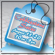 Cobblestone Sales are coming!