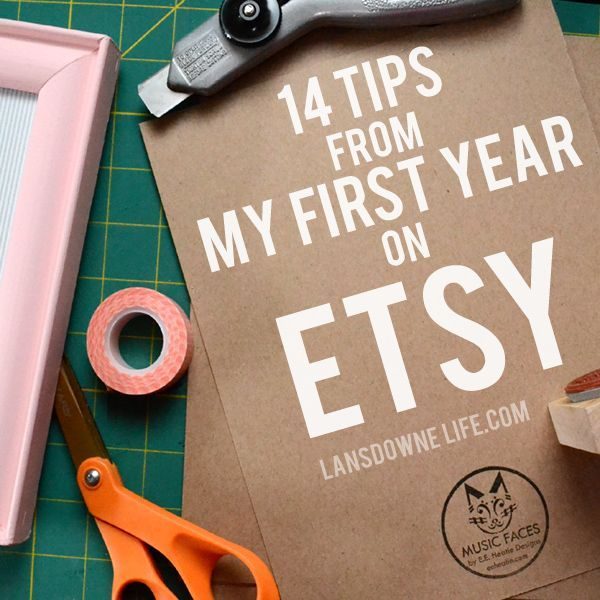 Great tips about selling on Etsy, including stocking your shop, SEO, shipping, customer service and more gleaned from my first year as an Etsy seller.