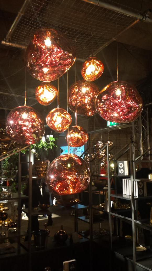 Our lamps looking beautiful in the #Melt at the @tomdixonstudio  #MULTIPLEX