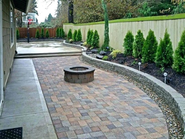 Ideas Low Cost of Concrete Patio | Pavers backyard, Patio ... on Low Cost Backyard Patio Ideas id=46249