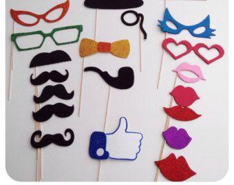 Pack de 60 accesorios para photocall por Marcosphotocall en Etsy
