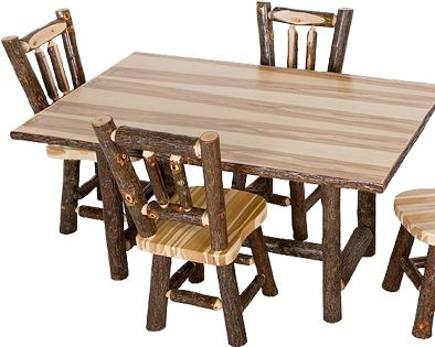 36 Best Hickory Log Furniture Images On Pinterest  Log Furniture Best Hickory Dining Room Sets Decorating Design
