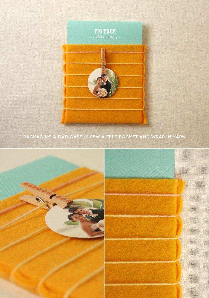 DIY digital packaging - felt and yarn…