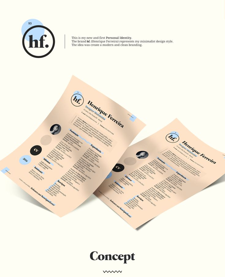 hf. branding - Personal Identity on Behance
