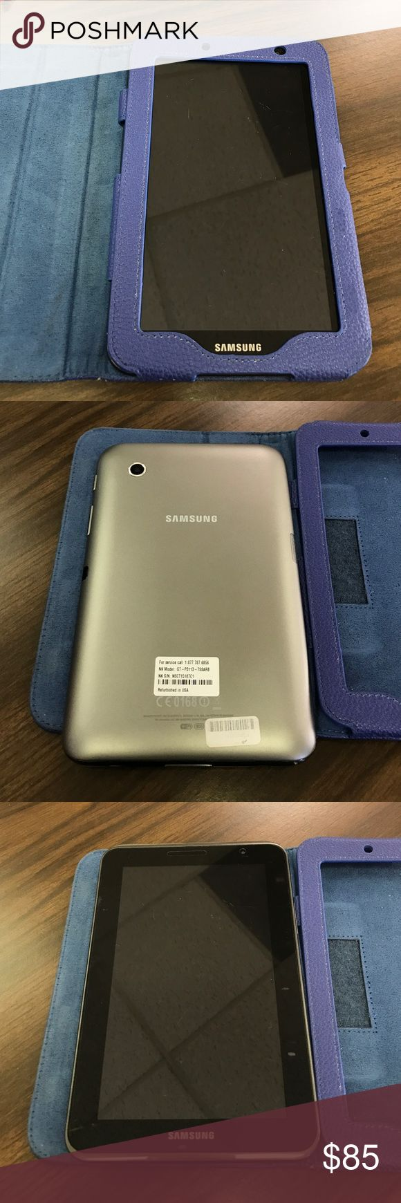 """Samsung Galaxy Tab2 Samsung Galaxy Tab2 8gb 7"""" screen with WiFi and removable microSD (not included) Titanium Gray color. It comes with blue Supcase that folds into a stand. Item is used but in great condition! Barely used, mostly for business. It has been reset and wiped clean Samsung Galaxy Other"""
