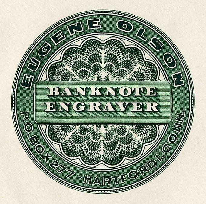 Banknote engraver  via Sheaff Ephemera