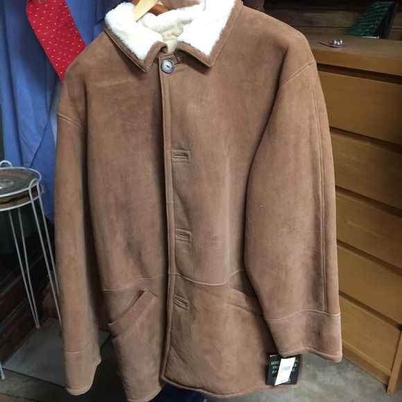 Men's lamb skin jacket Never worn, still has tags. Very good condition. Make an offer. Size 42. Jackets & Coats