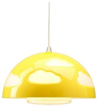 SKOJIG Pendant Lamp, Yellow - Contemporary - Kids Lighting - IKEA