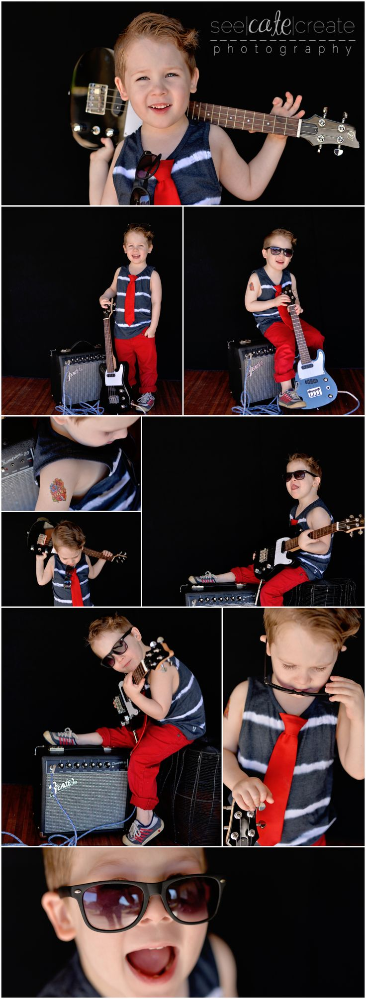 seecatecreate photography little rockstar photoshoot